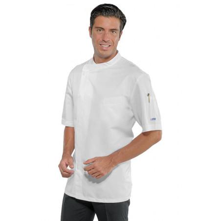 Veste de cuisine homme en polyester à manches courtes YOKOHAMA