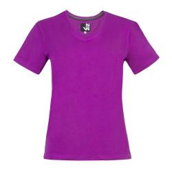Tee shirt de travail femme ROMANE Fushia face
