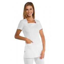 Tunique médicale femme manches courtes MACAO Blanc
