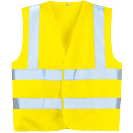 YARD Gilet de travail polyester double ceinture haute visibilité