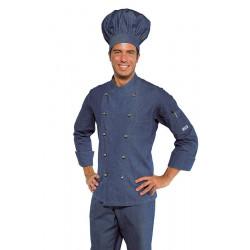 Veste de cuisine homme PEDRO SLIM manches longues