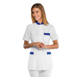 Tunique médicale manches courtes COSTA RICA Blanc Bleu