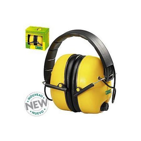 Lot de 10 casque anti-bruits électronique jaune (unité)