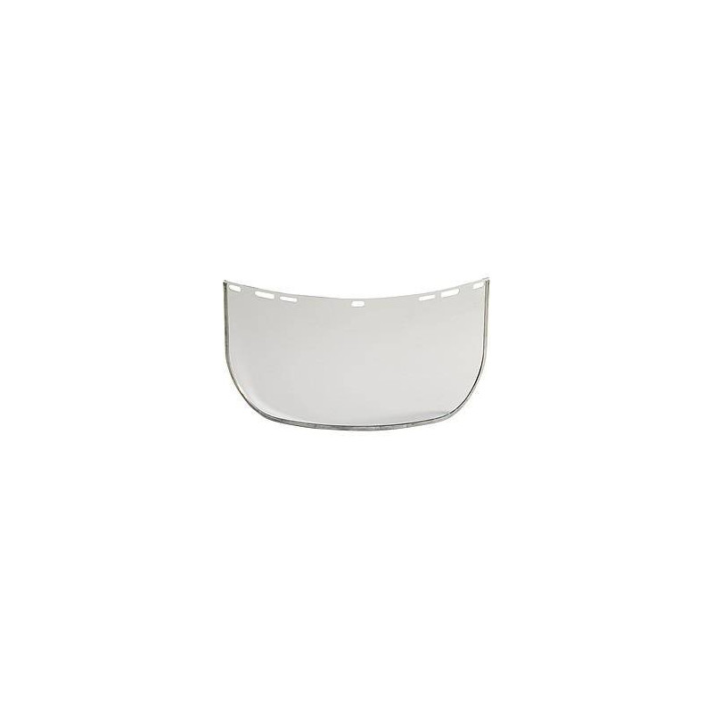 VISOR lot 10 écrans de protection polycarb. incolore bord métal L40 x H20