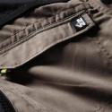 Combinaison de travail homme double zip SALVADOR Beige / Noir détail