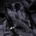 Combinaison de travail homme double zip SALVADOR Gris / Noir détail