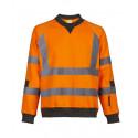 Pull de travail haute visibilité NEON Orange Face