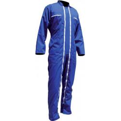 Combinaison Coton/Poly double zip BERTRAND Bleu