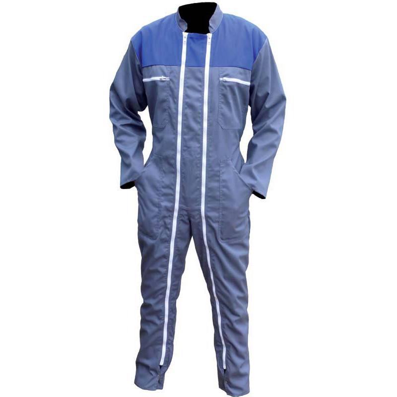 Combinaison de travail 2 zip THIERRY Bleu Gris