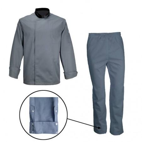 Ensemble de cuisine veste manches longues/pantalon BRIAN