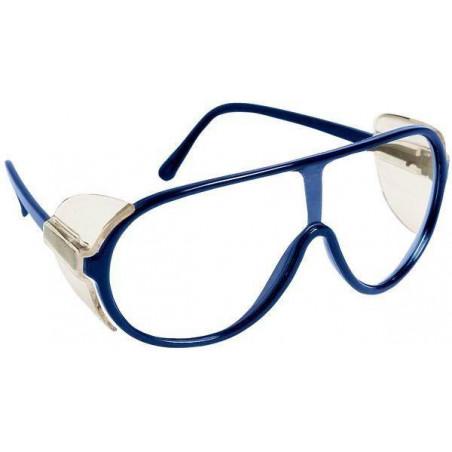 Lot 10 paires de lunettes PANORALUX Monture bleue - Oculaire incolore