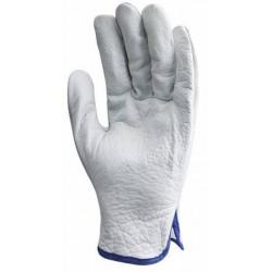 Lot 10 paires de gants fleur standard, dos croûte