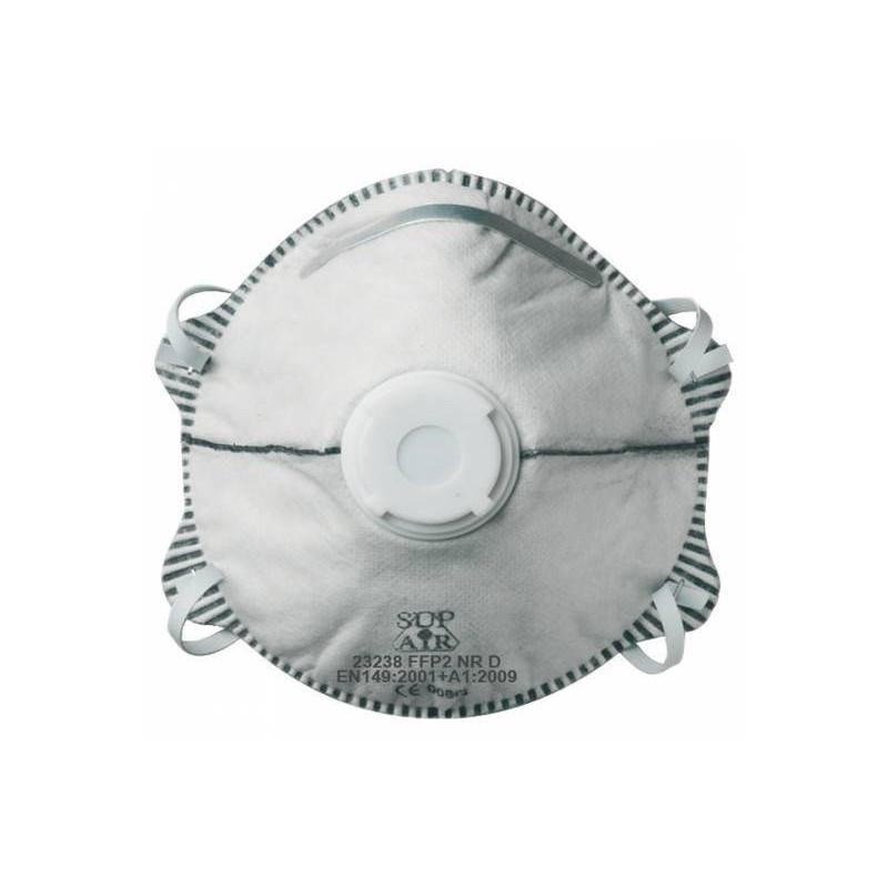 Boite de 10 masques à coques filtre charbon avec soupapes FFP2 (les 12 boites)