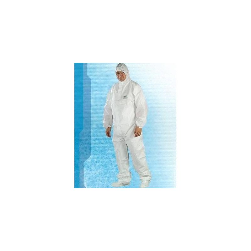 Combinaisons PROOF blanc étanche avec cagoule fermeture glissière (par25)