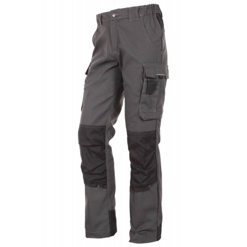 Pantalon de travail poches genoux URBANWEAR Gris Noir