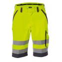 Bermuda de travail haute visibilité LUCCA jaune gris