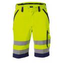 Bermuda de travail haute visibilité LUCCA jaune vert