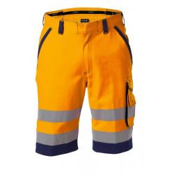 Bermuda de travail haute visibilité LUCCA orange marine