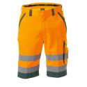 Bermuda de travail haute visibilité LUCCA orange vert