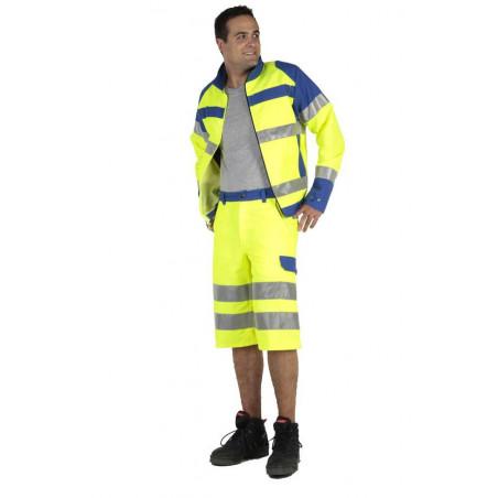FLUOPRO Bermuda de travail haute visibilité ceinture élastiquée