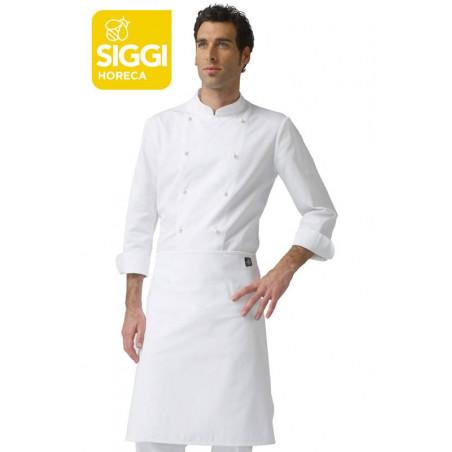 TORINO tablier blanc de cuisine