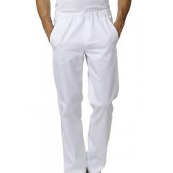 Pantalon de cuisine taille élastiquée JOSH blanc
