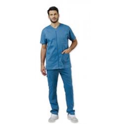 Tunique médicale à zip pour homme DARREN bleue