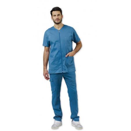 Tunique médicale à zip pour homme DARREN