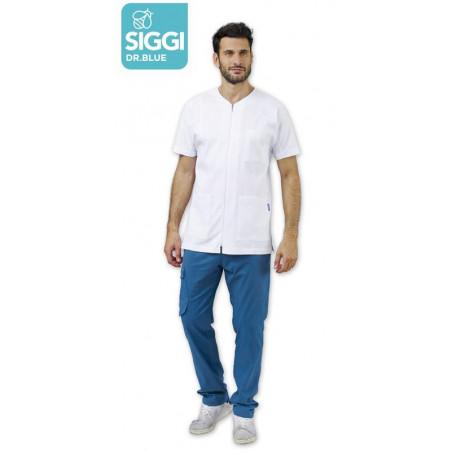 DARREN Tunique médicale à zip pour homme