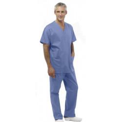 Tunique médicale mixte manches courtes SUMMER azur