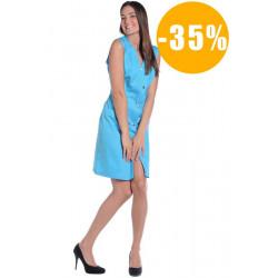 Blouse de travail femme sans manches NAPOLI destockée