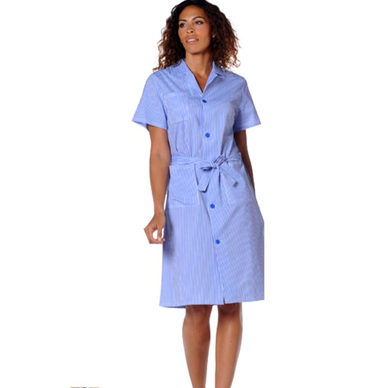 Blouse de travail femme à manches courtes JUDITH RAYE bleu