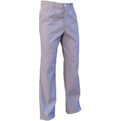 Pantalon de cuisine pied de poule à taille élastique DOM
