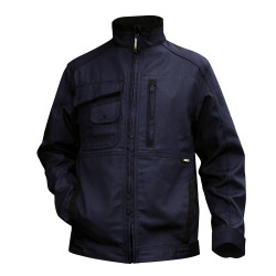 Veste de travail multipoches en canvas KENT marine