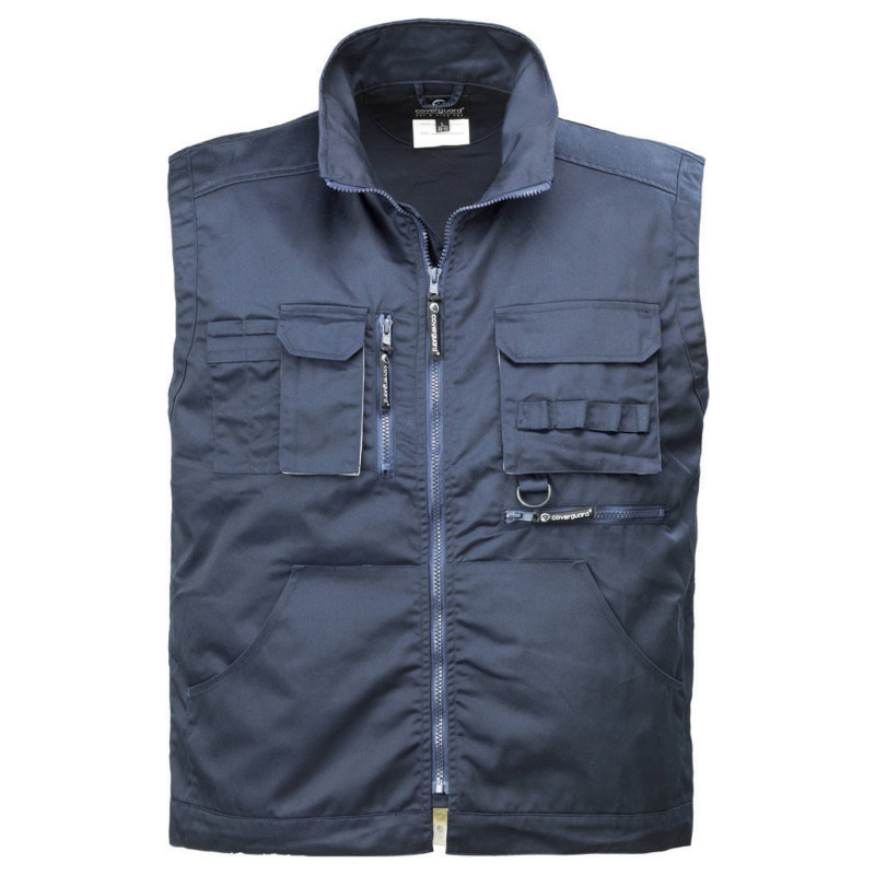 NAVY MEDIUM gilet de travail multipoches matelassé