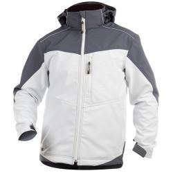 JAKARTA veste softshell bicolore homme blanc noir
