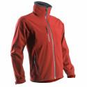 YANG veste de travail softshell rouge