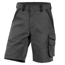 SMITH short de travail en canvas gris