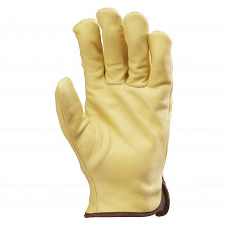 FINLANDE paire de gants de travail en cuir hiver (Lot de 12)