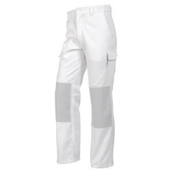 PRO UP Pantalon de travail homme poches genoux blanc