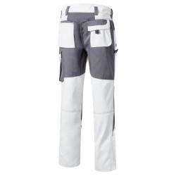 TOOLS Pantalon de travail pour peintre blanc PIONIER