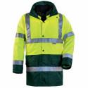HIWAY HI-VIZ Parka de travail haute visibilité 4 en 1 jaune vert