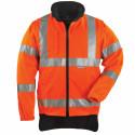 HIWAY HI-VIZ Parka de travail haute visibilité 4 en 1  doublure orange