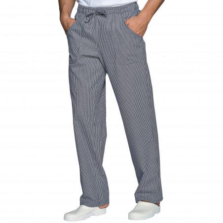 JIMMY Pantalon de cuisine pied de poule