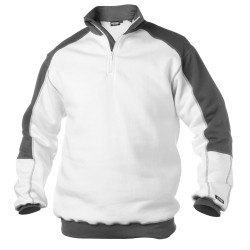 Sweat shirt de travail BASIEL Blanc/gris