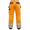 GLASGOW Pantalon de travail haute visibilité poches genoux orange marine