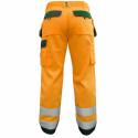 GLASGOW Pantalon de travail haute visibilité poches genoux orange vert