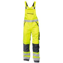 MALMEDY Cotte à bretelles haute visibilité poches genoux jaune gris