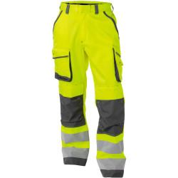 CHICAGO Pantalon de travail haute visibilité multipoche jaune gris