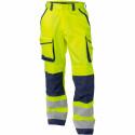 CHICAGO Pantalon de travail haute visibilité multipoche jaune marine